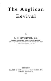 Cover of: The Anglican revival