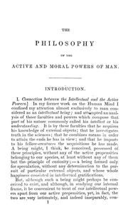 Cover of: The philosophy of the active & moral powers of man