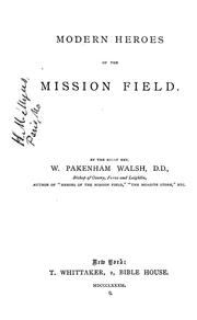 Cover of: Modern heroes of the mission field