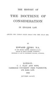 history of consideration essay The history of the doctrine of consideration in english law : being the yorke prize essay for the year 1891 item preview.