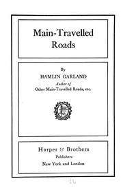 Cover of: Main-travelled roads by Hamlin Garland