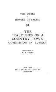 Cover of: The jealousies of a country town | HonorГ© de Balzac