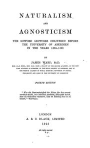 Cover of: Naturalism and agnosticism | Ward, James