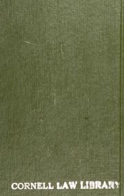 Cover of: The first principles of law