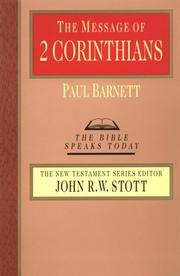 Cover of: The message of 2 Corinthians: power in weakness