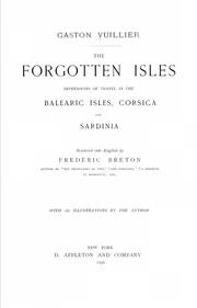 Cover of: The forgotten isles | Gaston Vuillier