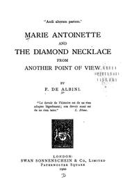 Cover of: Marie Antoinette and the diamond necklace