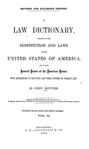 Cover of: A law dictionary | Bouvier, John