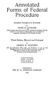 Cover of: Annotated forms of federal procedure