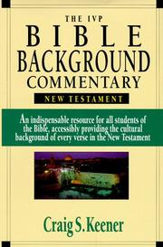 Cover of: The IVP Bible Background Commentary: New Testament