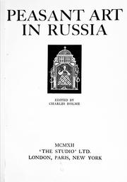 Cover of: Peasant art in Russia | Charles Holme