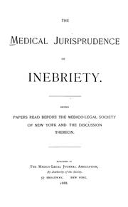 The medical jurisprudence of inebriety by