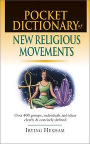 Cover of: Pocket Dictionary of New Religious Movements