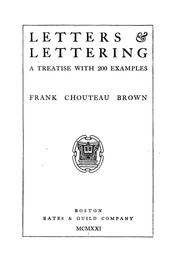 Cover of: Letters & lettering | Brown, Frank Chouteau