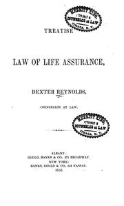 Cover of: A treatise on the law of life insurance