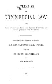 Cover of: A treatise on commercial law