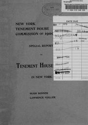 Cover of: Special report on tenement house fires in New York