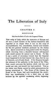 Cover of: The liberation of Italy, 1815-1870