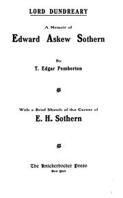 Cover of: A memoir of Edward Askew Sothern