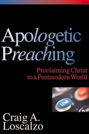 Cover of: Apologetic Preaching | Craig A. Loscalzo
