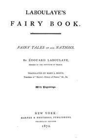 Cover of: Laboulaye's fairy book