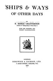 Cover of: Ships & ways of other days by E. Keble Chatterton