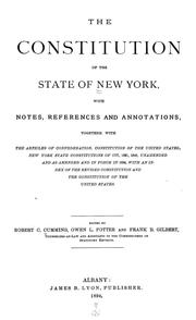 Cover of: The Constitution of the State of New York | New York (State)