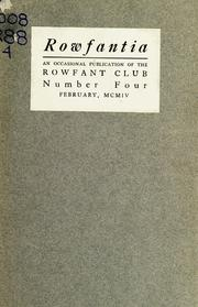 Cover of: The leaves of a decade | Rowfant Club (Cleveland, Ohio)