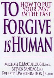 Cover of: To forgive is human
