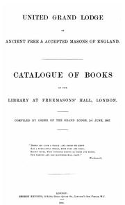 Cover of: Catalogue of books in the Library at Freemasons