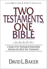 Cover of: Two Testaments, one Bible | D. L. Baker