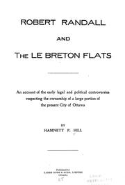 Cover of: Robert Randall and the Le Breton flats by Hamnett P. Hill