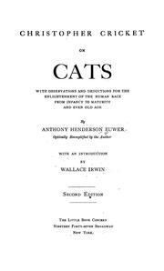 Cover of: Christopher Cricket on cats | Anthony Euwer