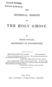 Cover of: The internal mission of the Holy Ghost | Henry Edward Manning