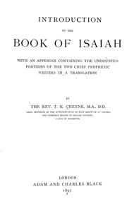 Cover of: Introduction to the book of Isaiah