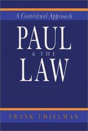 Cover of: Paul & the law