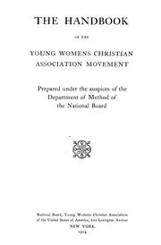 Cover of: The handbook of the Young Womens Christian Association movement | Young Women