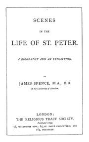 Cover of: Scenes in the life of St. Peter