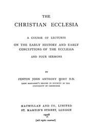 Cover of: The Christian ecclesia