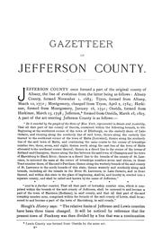 Cover of: Geographical gazetteer of Jefferson County, N.Y. 1684-1890