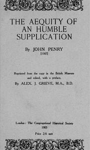 Cover of: The aequity of an humble supplication | John Penry