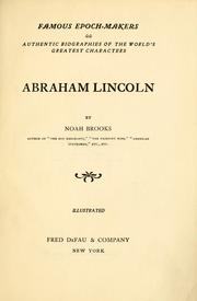 Cover of: Abraham Lincoln | Noah Brooks