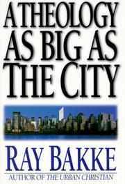 Cover of: A theology as big as the city
