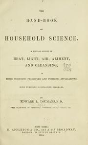 Cover of: The hand-book of household science. | Edward Livingston Youmans