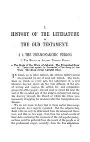 Cover of: An outline of the history of the literature of the Old Testament by E. Kautzsch