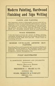 Cover of: Modern painting, hardwood finishing and sign writing ... |