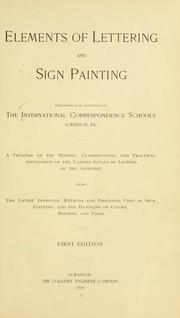 Cover of: Elements of lettering and sign painting by International Correspondence Schools
