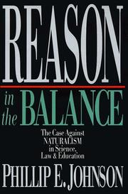Cover of: Reason in the Balance | Phillip E. Johnson