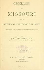 Cover of: Geography of Missouri | James Mickleborough Greenwood