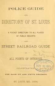 Cover of: Police guide and directory of St. Louis. | Henry M. Jones